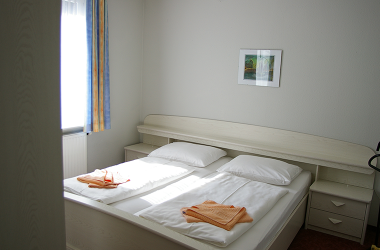 Schlafzimmer in unserer Ferienwohnung