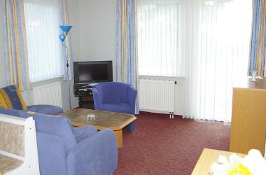 Wohnzimmer in unserer Ferienwohnung